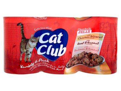 Cat Club Mix Chunks in Jelly  v ŽELÉ pack 4x400g