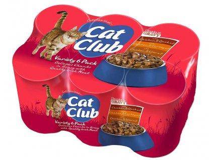 Cat Club Mix Chunks in Gravy v OMÁČCE pack 6x400g