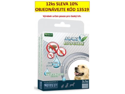 Max Biocide Spot-on Dog XXL antiparazitní kapsle, pes 3 x 3 ml !CZ!