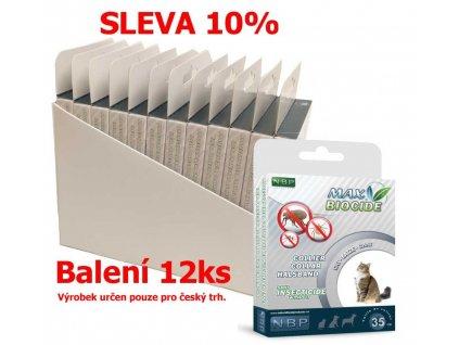 Max Biocide Collar Cat antiparazitní obojek, kočka 42 cm (12 ks) SLEVA 10 % !CZ!