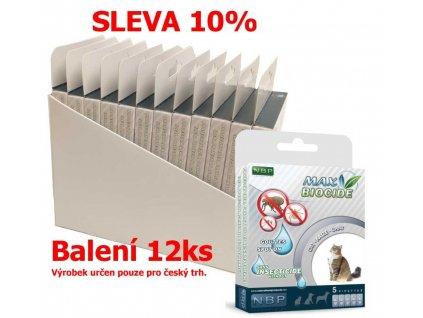 Max Biocide Spot-on Cat antiparazitní kapsle, kočka 5 x 1 ml (12 ks) SLEVA 10 % !CZ!