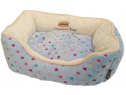 Pelíšek s puntíky Extra soft Bed modrá XS 47 cm