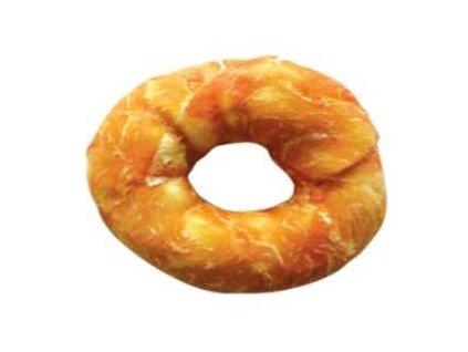 Buvolí kroužek obalený kachním masem JUKO Exclusive Snacks 10 cm (6 ks)