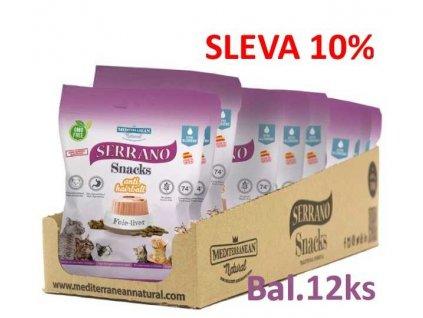 Serrano Snack for Cat-Liver-AntiHairball 50g-12ks