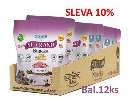 Serrano Snack for Cat-Sardine-AntiHairball 50g-12ks
