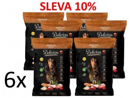 Delicias Dog Adult Soft poloměkké krmivo 1,5 kg (6ks) AKCE 10%