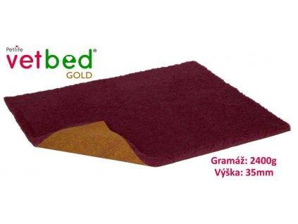 Vetbed Gold vínová 100 x 75 cm, vlas 35 mm