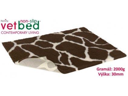 Vetbed protiskluz/Drybed žirafa 100 x 75 cm, vlas 30 mm