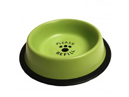 Miska nerez pastelově zelená potisk 0,55 l