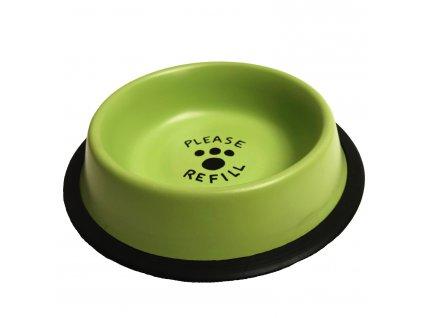Miska nerez pastelově zelená potisk 2,35 l