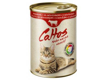 Cattos Cat with Beef 415g-(Balení 24 kusů)