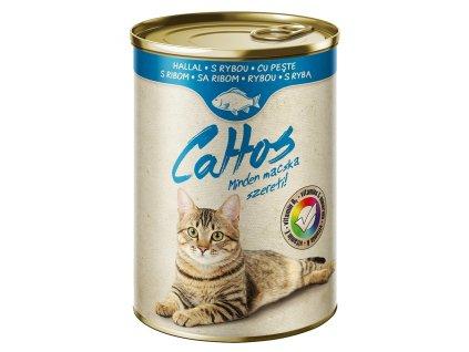Cattos Cat with Fish 415g-(Balení 24 kusů)