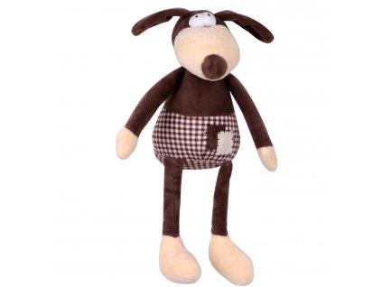 Hračka pes - plyšový pes pískací 30 cm