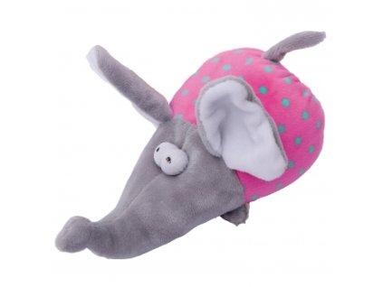 Hračka pes - plyšový slon pískací 17 cm
