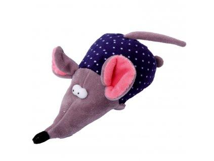 Hračka pes - plyšová myš pískací 17 cm
