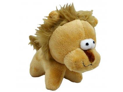 Hračka pes - plyšový lev pískací 12 cm