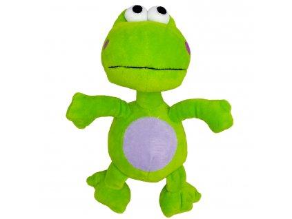 Hračka pes - plyšová žába pískací 20 cm