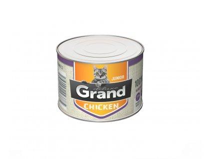 Grand deluxe 100% KUŘECÍ pro kočku JUNIOR 180g-(Balení 12 kusů)
