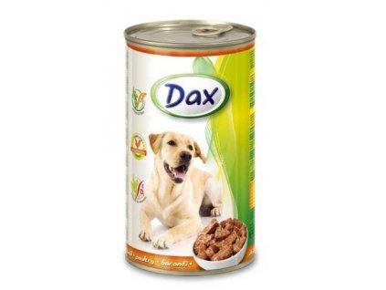 DAX  kousky DOG 1240g DRŮBEŽÍ-(Balení 12 kusů)