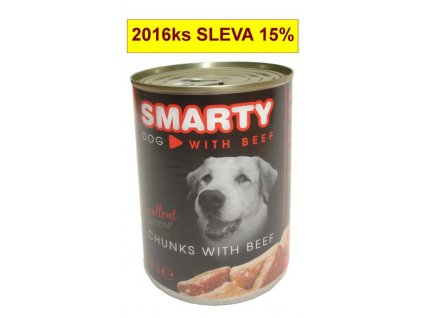SMARTY chunks Dog Hovězí 410 g