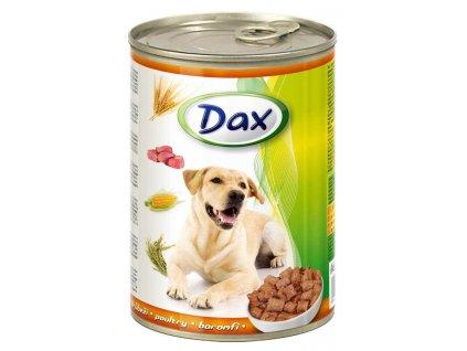 DAX  kousky DOG DRŮBEŽÍ  415g-(Balení 24 kusů)