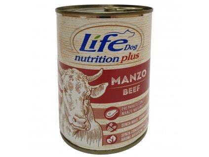 LifeDog Beef chunks, konzerva 400 g