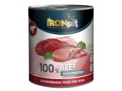 Akce IRONpet BEEF 100% Monoprotein 800g Hovězí, konzerva