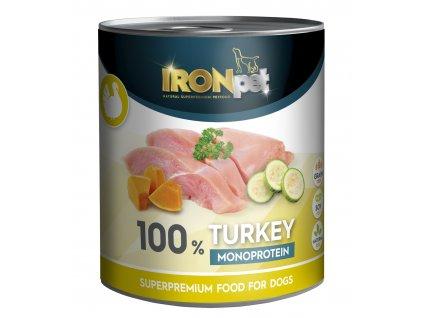 Akce IRONpet TURKEY 100% Monoprotein 800g Krůta, konzerva