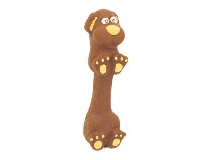 AKCE Latexová hračka s pískadlem-Jezevčík malý 13cm-14105