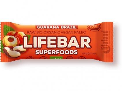 AKCE Bio tyčinka Lifebar Superfoods Guarana a Brazil 47g Lifefood