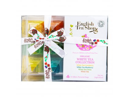 Čaj Bílý 12 pyramidek - 4 příchutě BIO ENGLISH TEA SHOP
