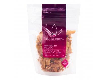 Chipsy kokosové malinové 40 g BIO SENSE COCO