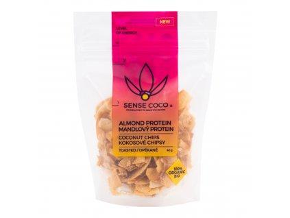 Chipsy kokosové s mandlovým proteinem 40 g BIO SENSE COCO
