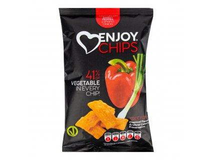 Chipsy bramborové s červenou paprikou a jarní cibulkou 40 g ENJOY CHIPS SE