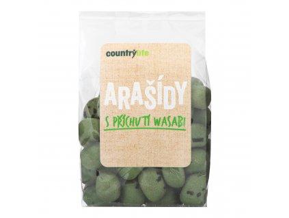 Arašídy s příchutí wasabi 100 g COUNTRY LIFE