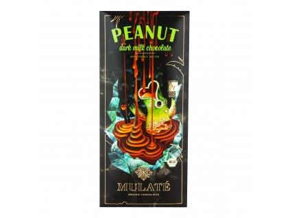 Čokoláda mléčná 45% s arašídovým krémem 80g BIO MULATÉ