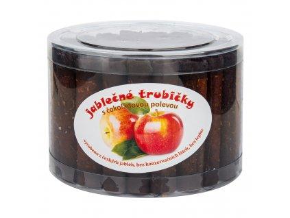 Trubičky jablečné s čokoládou dóza 540g BIOPRODUKT JT