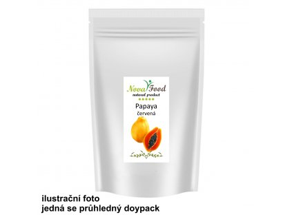 AKCE Papaya červená kousky BEZ CUKRU!! 1000g Novafood