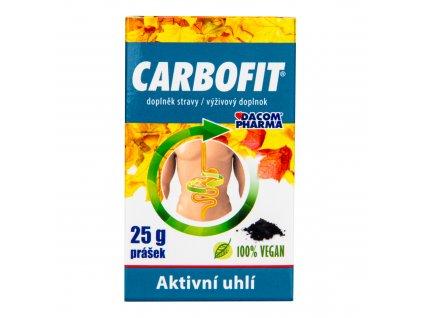 CARBOFIT aktivní rostlinné uhlí 25 g DACOM