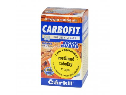 CARBOFIT aktivní rostlinné uhlí tobolky 17,5 g DACOM