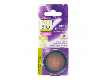 Stíny oční 01 béžová 3 g BIO SO'BiO étic