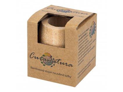 Stojánek na zubní kartáčky bambusový CURANATURA