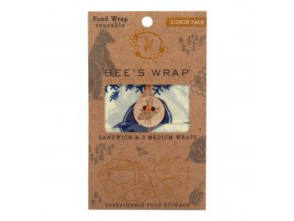 Ubrousek voskovaný sendvič 3 ks 25-33 cm BEE'S WRAP