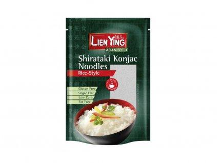 Bio Konjakové těstoviny tvar rýže Shirataki 270g Lien Ying