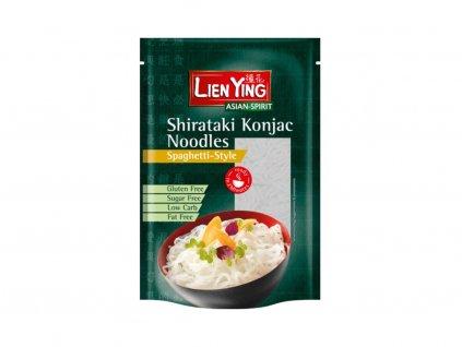 Bio Konjakové těstoviny tvar spaghetti Shirataki 270g Lien Ying