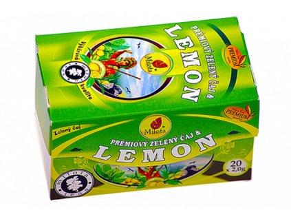 Zelený čaj lemon 40g(20x2g) Milota teas Premium