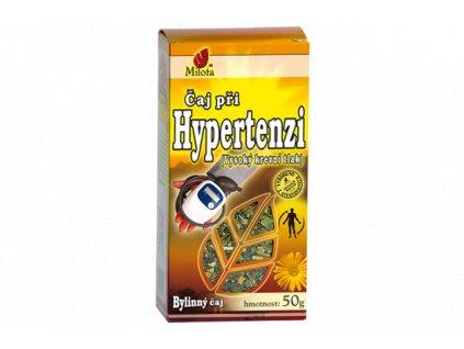 Při hypertenzi (vysokém krevním tlaku) 50g