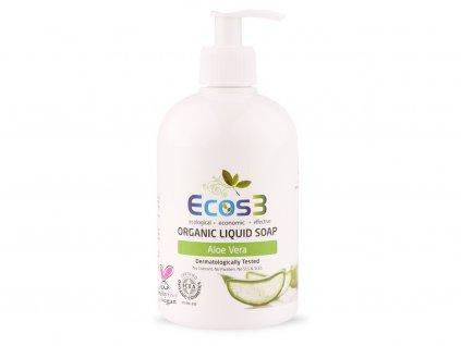 Organické tekuté mýdlo Aloe Vera 500ml ECOS3