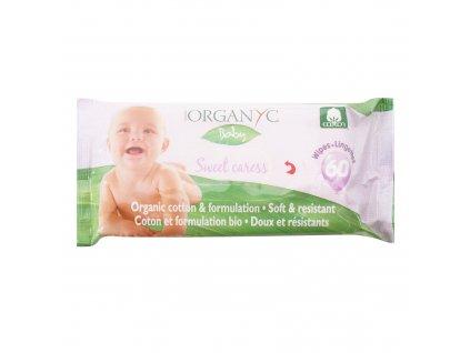 AKCE Dětské čisticí ubrousky 60 ks BIO bavlna ORGANYC