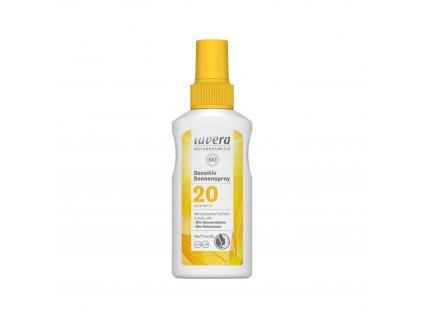 Opalovací sprej Sensitiv SPF 20 BIO 100 ml Lavera